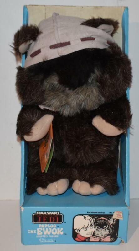 Star Wars 1984 PAPLOO Plush Ewok Kenner Stuffed Figure RARE With BOX -  (AE20)