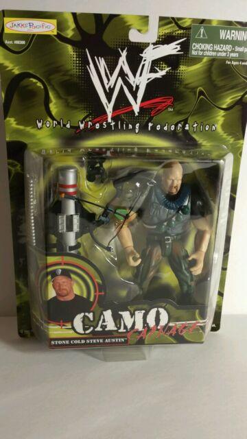 WWF STONE COLD STEVE AUSTIN CAMO CARNAGE ACTION FIGURE(033)