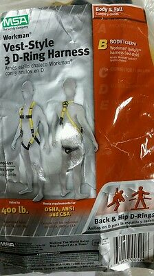 New Msa Safety 10096491 Style 3-d Harness Vest X-large
