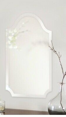 Howard Elloitt Frameless Rectangular Mirror With Arch And Scalloped Corners