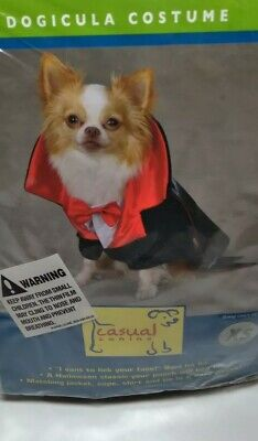 Casual Canine Dogicula Pet Dog Halloween Dracula Costume XS ADORABLE!
