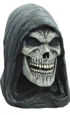 Hooded Death Skull Ghoulish DELUXE ADULT LATEX GRIM REAPER MASK - Grim Reaper Mask