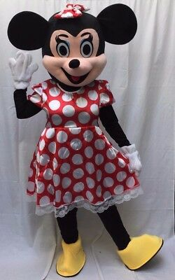 Minnie Mouse Mascot Costume Adult Halloween BIRTHDAY Disney Girl Party Red - Mouse Costume Halloween