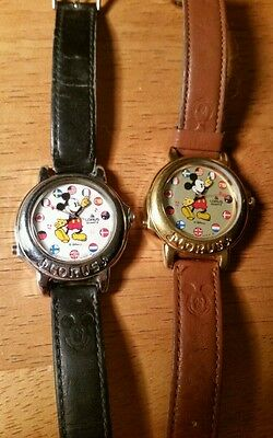 Mickey Band Master Watch Mickey Mouse March Collectible Disney EUC FREE SHIP