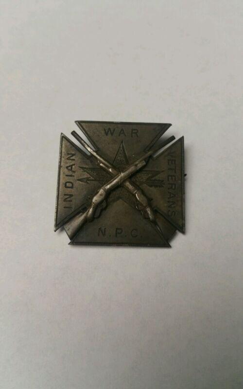 Indian War Veterans N.P.C Membership Badge SCARCE