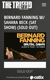 Bernard Fanning Tickets x2 Brisbane 21 October