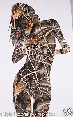REAL TREE M4 CAMO SEXY SILHOUETTE Woman Girl Window DECAL Decals Sticker