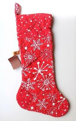 Great Finds Snowflake Quilted Christimas Stocking ~~FREE SHIPPING~~ -