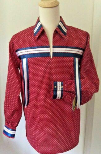 Native American Regalia Nakoda Made Genuine KeTukla-Nakoda Girl Ribbon Shirt  2X