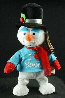 Gemmy Christmas Frosty the Snowman I Love Snow Animated Sings Dances w Tags