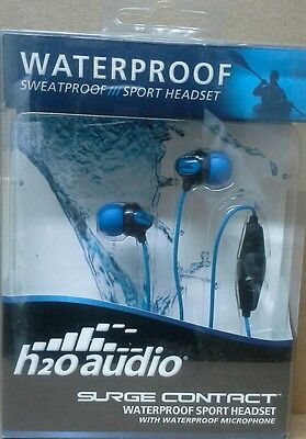 - Brand New h20 audio IE2-MBK Surge Contact Waterproof Sport Headset - h2o audio
