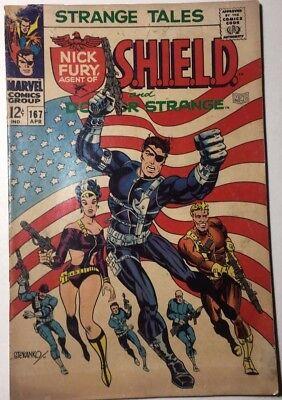 STRANGE TALES #167 Dr. Strange & SHIELD (1968) Marvel Comics Steranko VG+