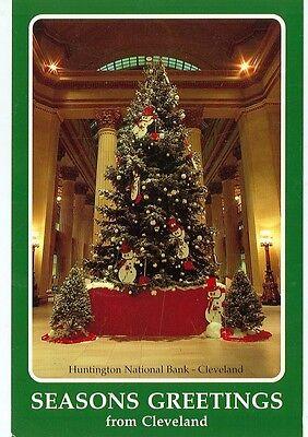 Seasons Greetings From Cleveland Huntington Bank On Postcard  Cd 63