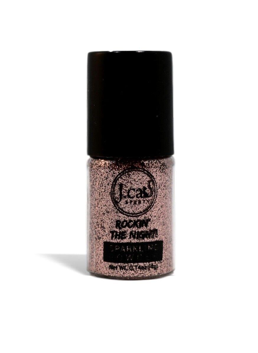 J. Cat Rockin The Night Sparkling Powder Loose Glitter EyeShadow CHAMPAGNE KISS - $0.99