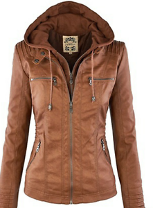 NEW Tan leather look jacket Prospect Prospect Area Preview