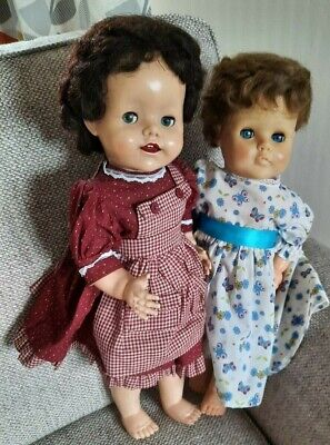 NICE PAIR OF VINTAGE HARD PLASTIC DOLLS BY PEDIGREE  X 2