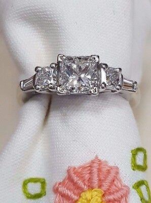 platinum diamond ring with GIA certified princess cut diamond