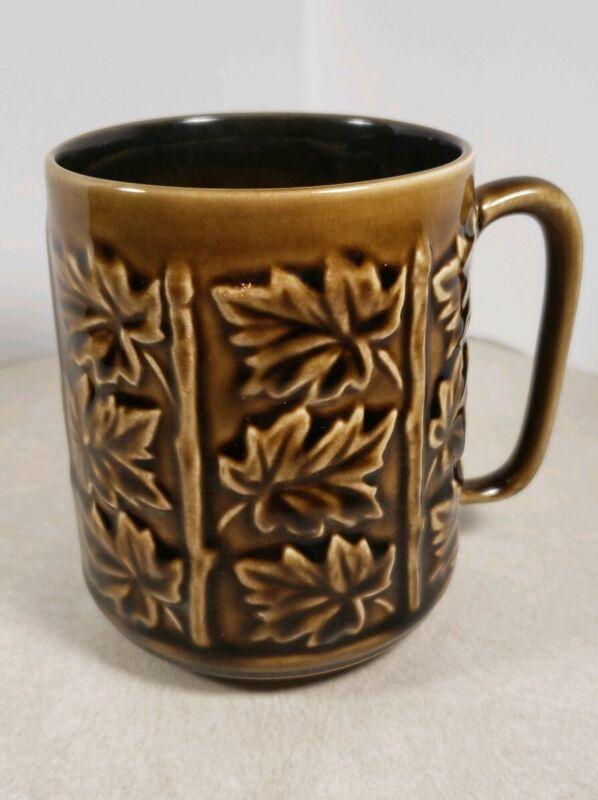 Vintage Coffee Mug Tea Cup Made in England 4348 SylvaC Leaf Leaves