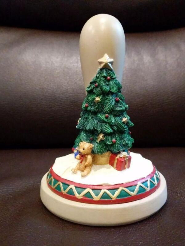 Vintage Brown Bag Cookie Stamp Press 1997 Christmas Tree No. 28 Holiday Gifts