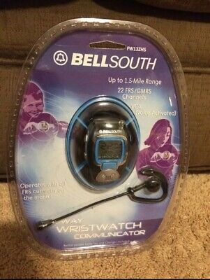 BELLSOUTH TWO WAY WRISTWATCH COMMUNICATOR FW13ZHS Voice Activated 1.5 Mile (Communication Range)