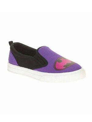 rl's Canvas Slip On Shoes Purple Size 3 NWT  (Batgirl Schuhe)