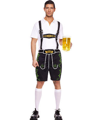 New Men's Lederhosen Oktoberfest Costume by Music Legs 76005 Costumania - Mens Lederhosen Costume