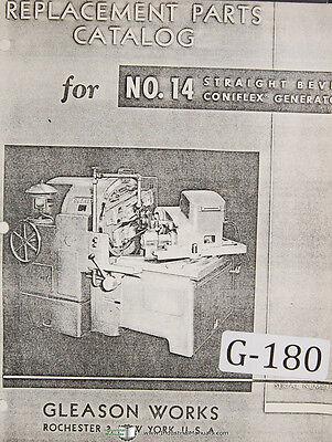 Gleason 14 Straight Bevel Coniflrx Generator Taar Parts List Manual