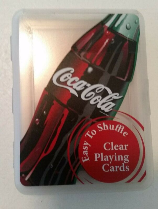 Coca-Cola Clear Playing Cards   New   Waterproof   Easy to Shuffle