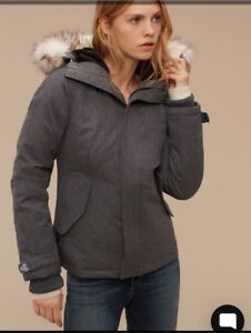 ARITZIA TNA VAIL Parka Grey Goose Down Winter Coat extra small