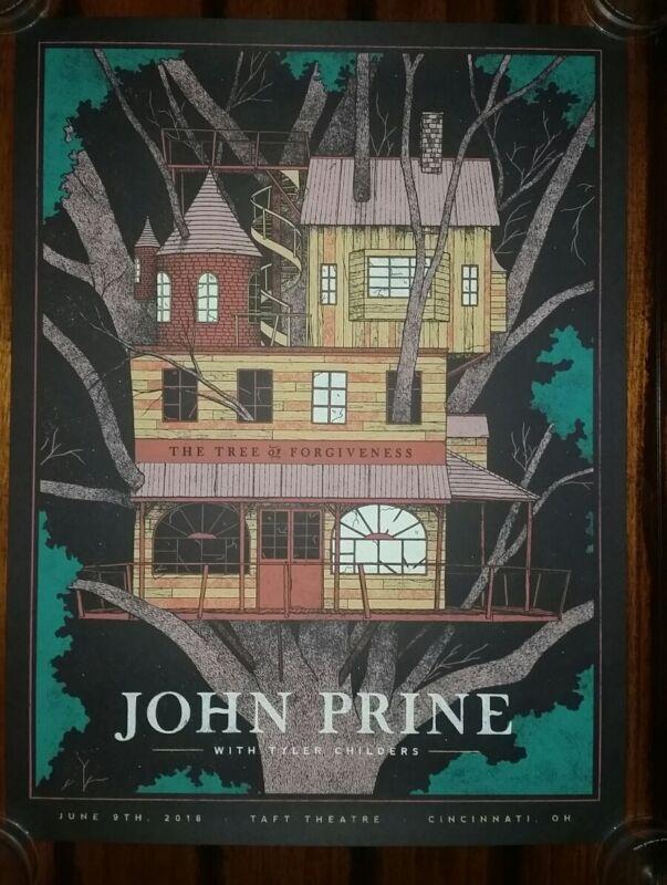 JOHN PRINE & TYLER CHILDERS Lithograph SHOW PRINT Tour Poster 2018 Cincinnati OH