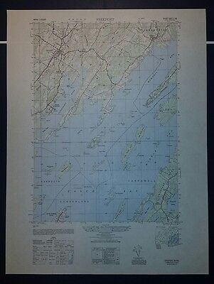 1940's Army topographic map (like USGS) Freeport Maine -Sheet 6971 I SE