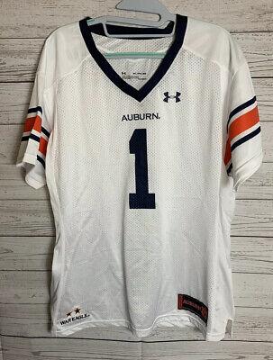 Under Armour #1 Auburn Tigers White Premier Football Jersey Women's XXL Auburn Tigers Womens Football Jersey