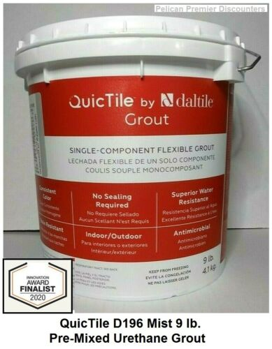 Daltile QuicTile D196 Mist 9 lb. Pre-Mixed Urethane Grout, Indoor or Outdoor
