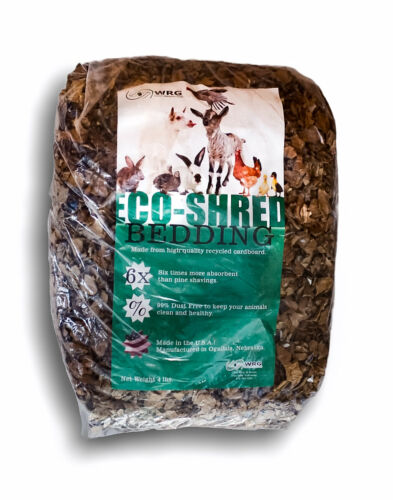 Two Pack -Eco-Shred 4 Lb.  Recycled Cardboard Animal Bedding