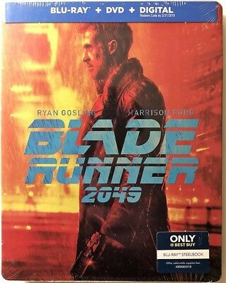 Blade Runner 2049 Blu-Ray + DVD + Digital Steelbook Best Buy Exclusive