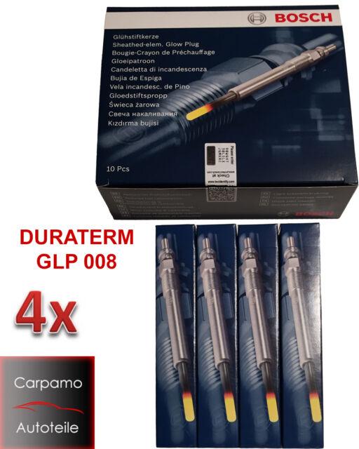 4x Glühkerze BOSCH GLP008 für Mercedes W210 W203 W211 W220 W202 Vito 0250202142