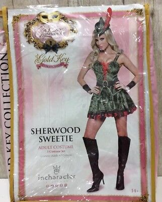 Sherwood Sweetie Adult Sexy Robin Hood Girl Retro Halloween Costume Sz M  - NEW](Girl Robin Costumes)