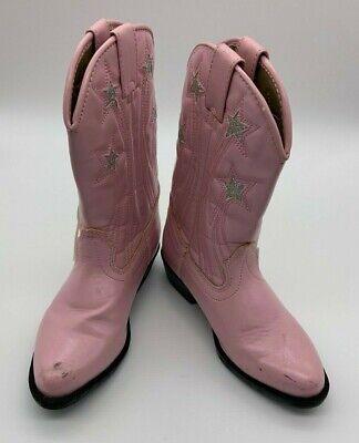 Smoky Mountain Mädchen Cowgirl Stiefel Sz 10 Kunstleder Absatz Slipper auf