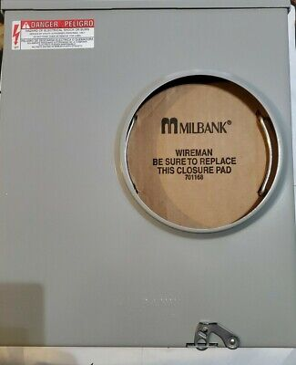 Milbank 200-amp Ringless Single Phase 120240 Meter Socket