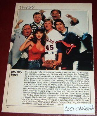 1983 TV ARTICLE~BAY See BLUES~DENNIS FRANZ~PAT CORLEY~PERRY LANG~PETER JURASIK