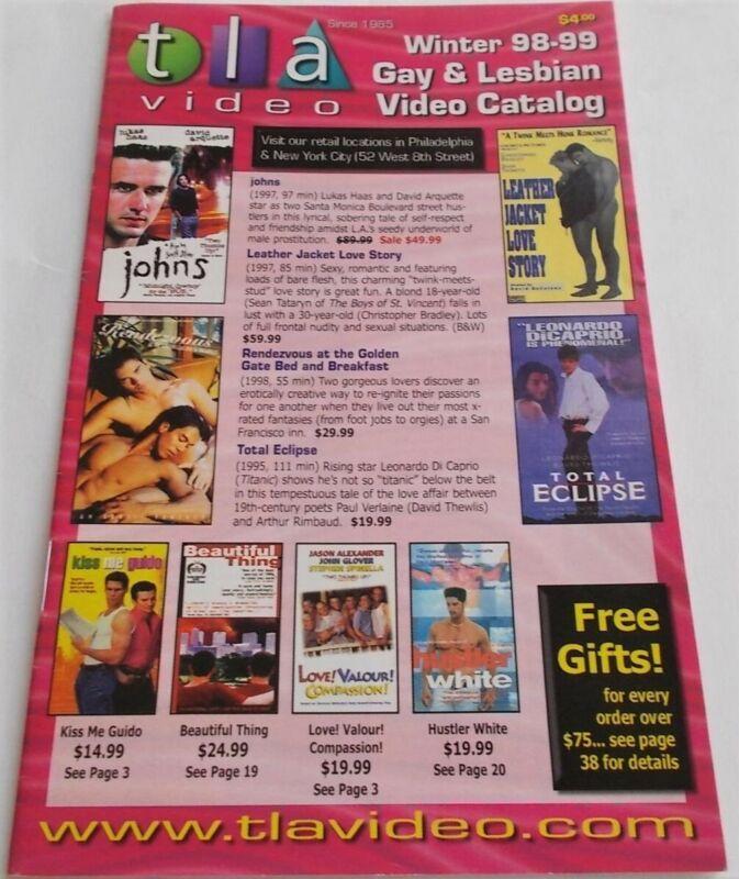 TLA Video Winter 1998-1999 Gay & Lesbian Video Catalog Photos Films Cinema