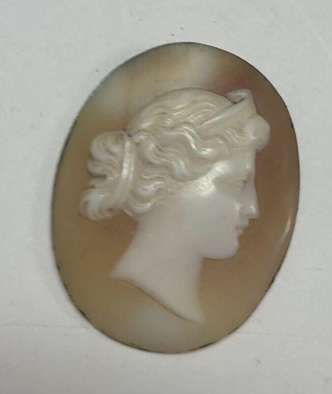Vintage Shell CAMEO Oval Lady  LOOSE