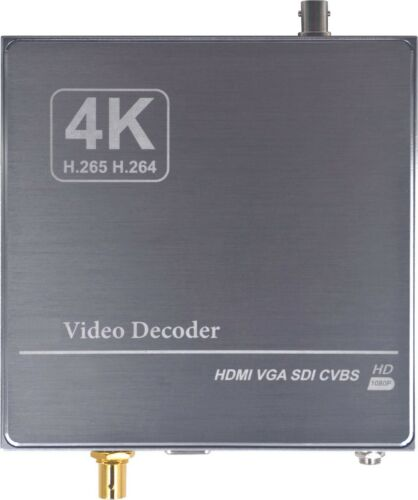 4K 3G-SDI HDMI VGA Streaming IP Video Decoder H265 H264 UDP RTMP HLS Camera