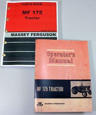 Massey Ferguson Mf 175 Tractor Owners Operators Parts Manual Catalog Exp. Views