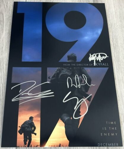 1917 CAST X4 SIGNED AUTOGRAPH 12x18 POSTER PHOTO GEORGE MACKAY +3 w/EXACT PROOF