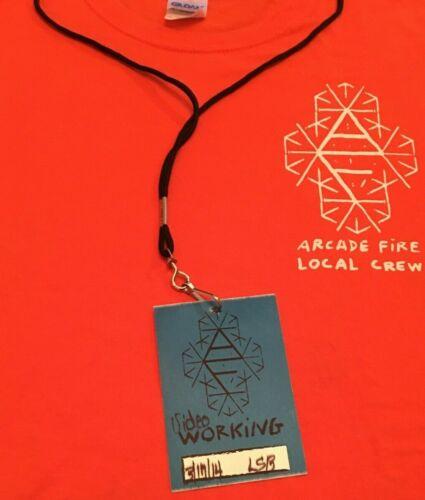 Arcade Fire 🔥Local Crew Concert T 🎼Backstage Pass 3/17/2014 Wells Fargo Center