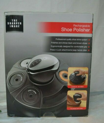 The Sharper Image Rechargeable Shoe Polisher, (CG-P100)
