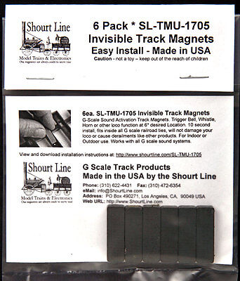 6 Scale Invisible Sound System Track Sensor Magnets For Usa Trains