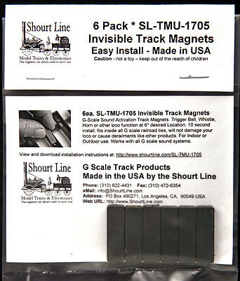 6 Scale Invisible Sound System Track Sensor Magnets For Bachmann Trains