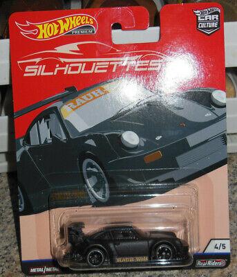 Hot Wheels Premium Car Culture Silhouettes RWB Porsche 930 4/5 Black Real Riders